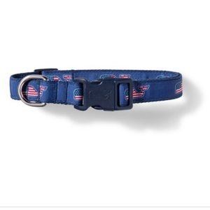 Vineyard Vines for Target Flag Whale Dog Collar M